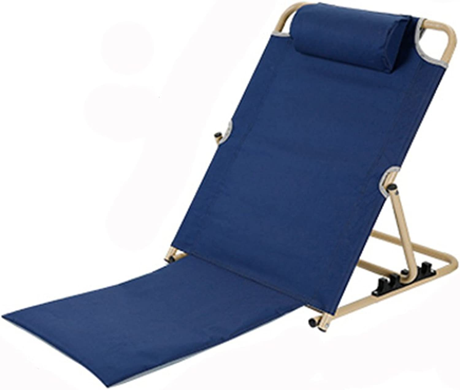 XRXY Multifunction Bed Dorm Room Folding Chair Simple Backrest Chair Outdoor Portable Recliner Living Room Bedroom Floor Chair Garden Lounge Chair