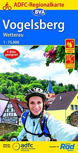 ADFC-Regionalkarte Vogelsberg Wetterau, 1:75.000, reiß- und wetterfest, GPS-Tracks Download (ADFC-Regionalkarte 1:75000)