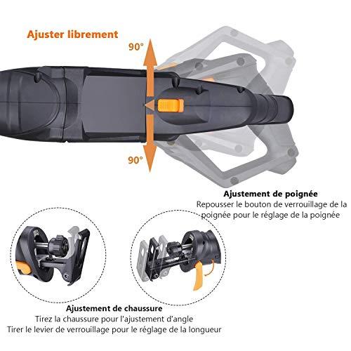TACKLIFE Scie Sabre, Poignées Orientables, Scie Alternative 850W 0~2800SPM, Équipé de LED, 2...