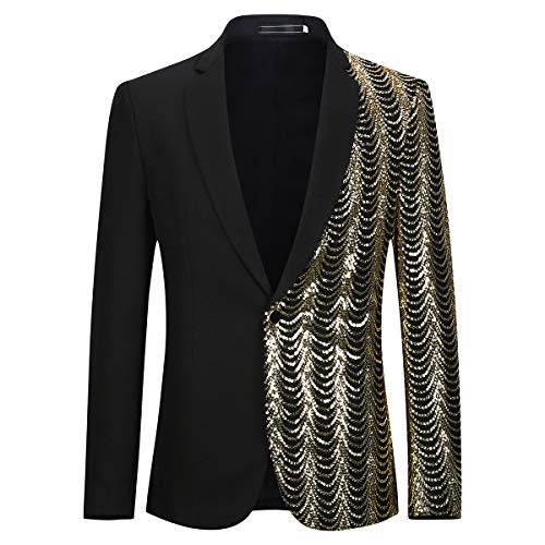 Allthemen Mens Casual Blazer Slim Fit Suits Jas Bloemen Gedrukt Een Knop Dinner Party Wear Jassen