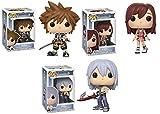 FunkoPOP Kingdom Hearts: Sora + Kairi + Riku – Stylized Video Game Disney Vinyl 3 Figure Bundle Set...