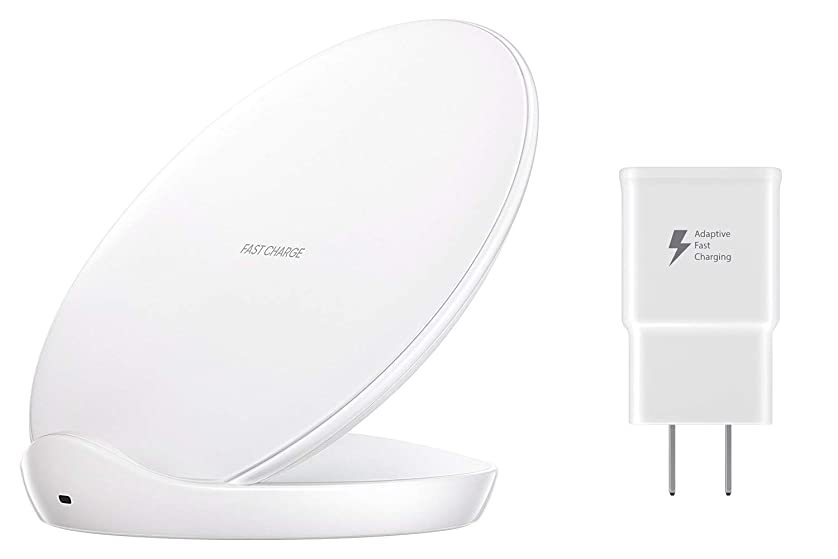 Samsung EP-N5100TWEGUS Qi Certified Fast Charge Wireless Charger Stand (2018 Edition) - US Version - White ysneecnqf