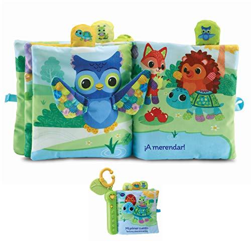 VTech-Mi Primer Cuento (Texturas Y Descubrimiento). Libro Tela Interactivo bebé +3 Meses, Color (3480-536922)