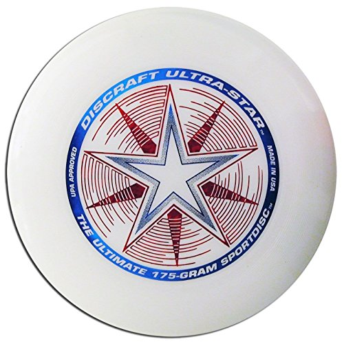 (Ship from USA) DISCRAFT ULTRA-STAR ULTIMATE DISC - WHITE COMPETITION STANDARD 175g REGULATION -ITEM#: G15/uiF982A14085