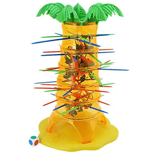 Family Board Game, Gift Toy Tumbling Monkey Climbing Pull Out Sticks Board Game for Kids