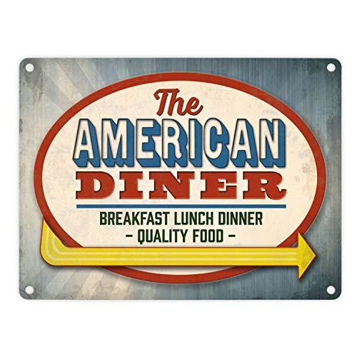 trendaffe - Metallschild mit Classic American Diner Motiv