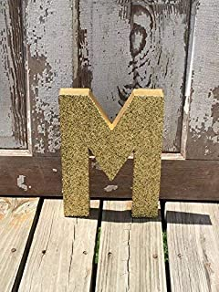 Gold Glitter Stand Up Decorative Birthday Letters, Graduation, Anniversary, Wedding Reception Table Numbers, Photo Prop