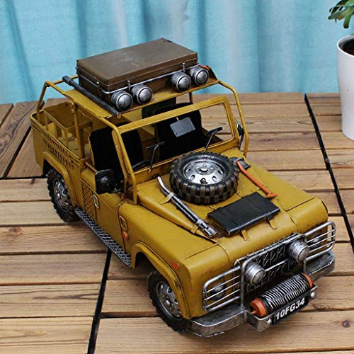 WWJJ Retro Nostalgic Living Room Decoration Creative Home Accessories Furnishings Open Hood Jeep Model Car Model Ornaments