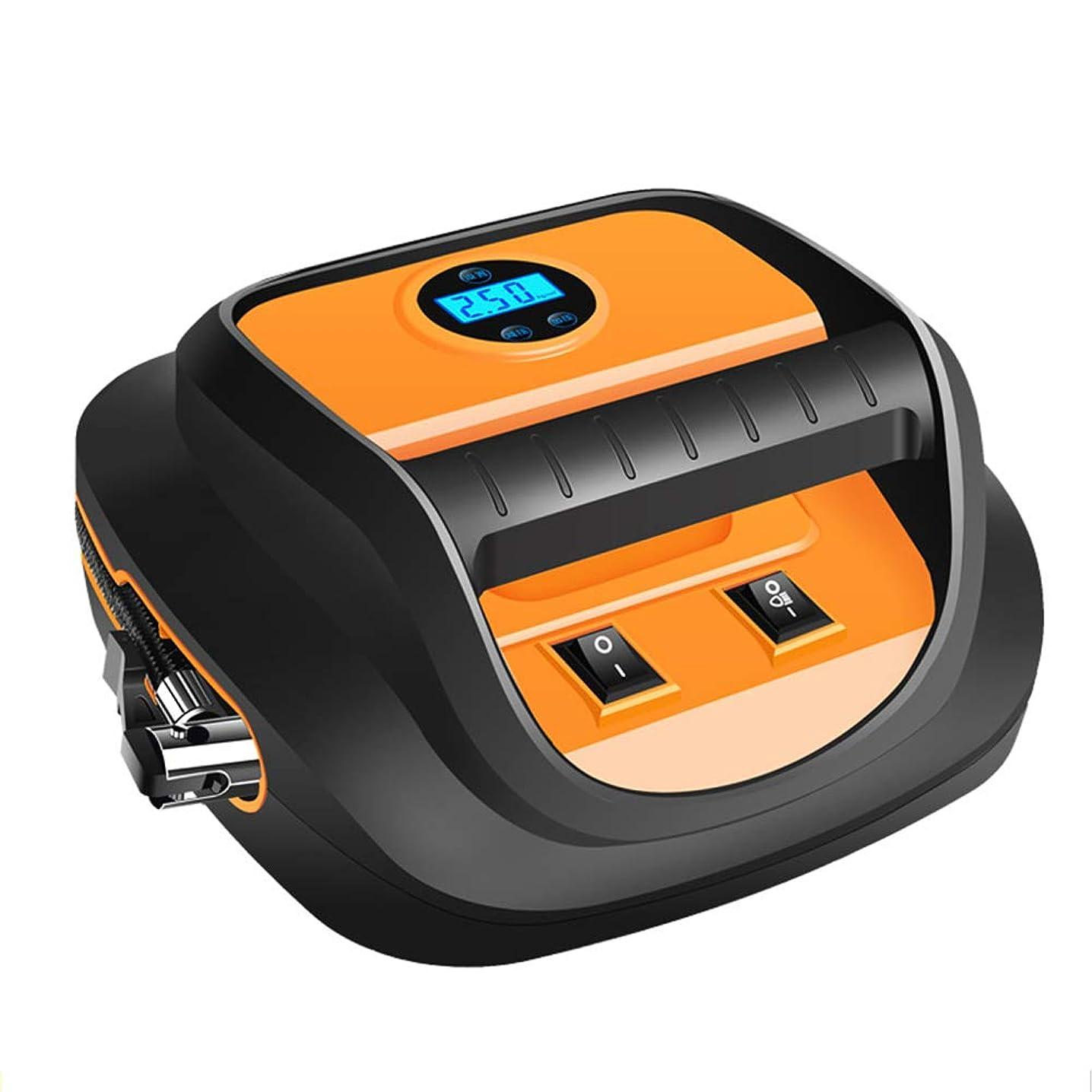 教会ネブ悪行QXKMZタイヤインフレータ、自動デジタルタイヤインフレータポータブル電動ポンプ、格納するのは簡単