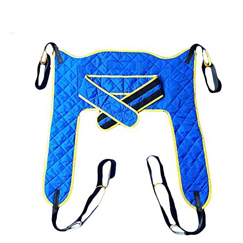 WANGXNCase Cinturón de Transferencia Adultos Grande para Ducha Uso Doméstico Cinturón De Transferencia Inodoro para Discapacitados Eslinga De Cuerpo Completo (Azul) ✅