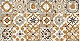 alfombra vinilica cocina naranja