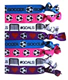 8 Piece Soccer Hair Elastic Set - Accessories for Players,...