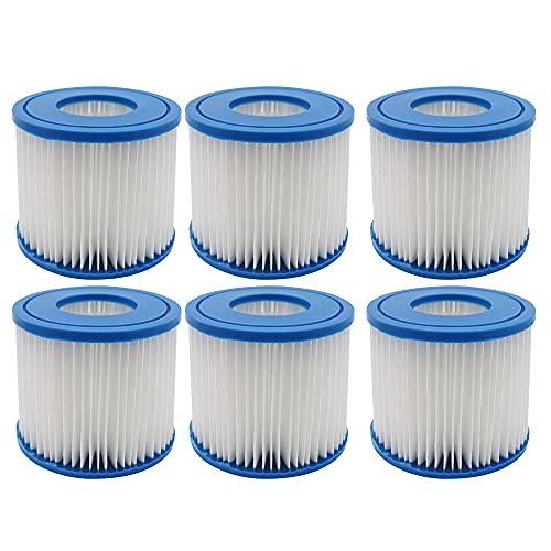 WuYan 6 filtros para POOLPURE Summer Escapes Filter tipo D, Summer Waves P57100102, para SFS-350 RP-350 RP-400 RP-600 RX-600