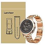 Ceston Diamante de imitación Metalica Acero Moda Correas para Reloj Inteligente Michael Kors Runway (18mm, Oro Rosa)