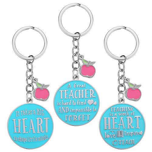 Teacher Gifts for Women - 3 Pack Teacher Keychain, Teacher Appreciation Gift, Thank You Gifts for Teacher, Christmas Valentine's Day Gifts for Teacher