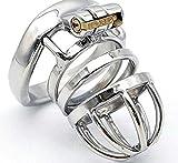 Pantalon à anneau élastique courbé en cage en acier inoxydable de conception ergonomique pour mari (comprend des bagues de 3 tailles) C-45