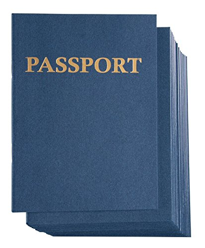 Juvale Blank Passport Notebook for Kids Pretend Play (4.25 x 5.75 in, 24 Pack)