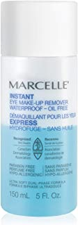 Marcelle Instant Eye Makeup Remover, Hypoallergenic and Fragrance-Free, 150 mL