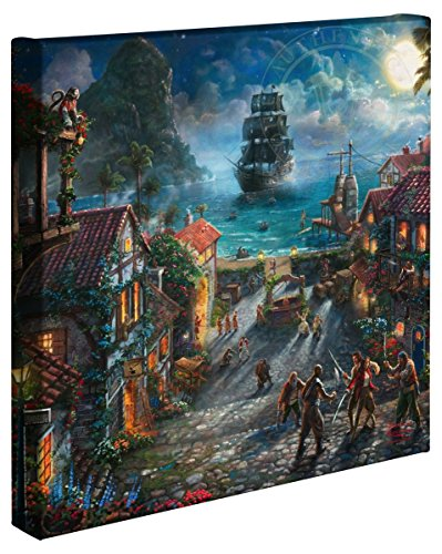 Thomas Kinkade - Gallery Wrapped Canvas , Pirates of the Caribbean , 14' x 14' , 65330