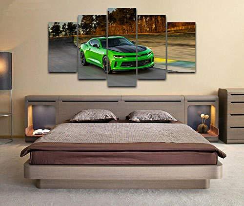 Gxucoa 5 Piezas Lienzo Poster Paisaje De Superdeportivo HD Arte De La Pared Impresa Decoración Dormitorio El Hogar Pintura De La Lona Foto