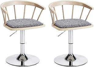 Barkruk CHY Swivel Set 2 verstelbare metalen voor keuken computer bureaustoelen 360 graden draaibare zitting top