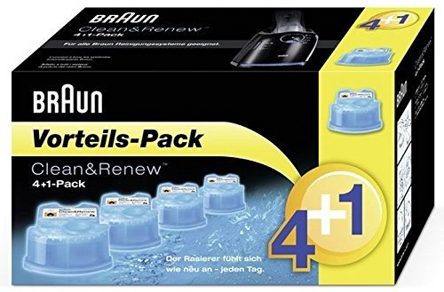 Pack de recambios Braun Clean & Renew 4+1