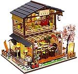 CZFSKCZ Miniatura de la Casa de Muñecas con Música, Kit de Bricolaje con Muebles Kit Modelo Artesanal,1:24 Kit de construcción Woodcraft House Bricolaje, Juguetes educativos