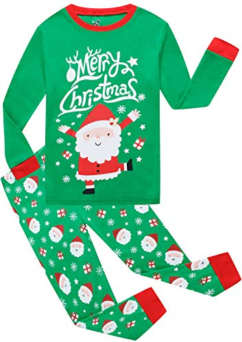 Girls Christmas Pajamas Children PJs Gift Set Kids Cotton Sleepwear