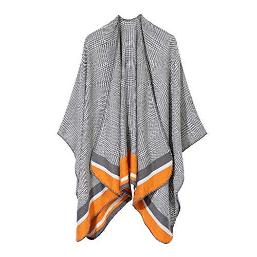 TIFIY Damen Schal Frauen weiche Kaschmir Schals stilvolle warme Decken feste Winter Schal elegante Verpackung Weich Warm Bequem Basic Schal Gelb
