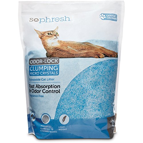 So Phresh Scoopable Odor-Lock Clumping Micro Crystal Cat Litter in Blue Silica, 8 LB, 8 LBS