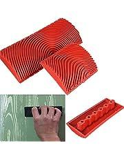 ウッドグレイニングツール 模造木目 アートペイントテクスチャブラシ 体験型ローラー 3インチと6インチ ペインティング デコレーション シリコーン素材 壁紙用 壁テクスチャー塗装 インテリアリフォーム 2枚セット
