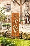 amelex 67 Panneau pour Jardin, déco Romantique façon rouillé, métal avec des découpes