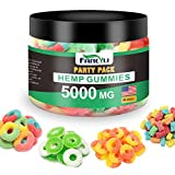 Party Pack Hemp Gummies Fancyli 5000mg Stress Anxiety Relief Made in USA Natural Safe Oil Gummies Mood Enhancer Immune Support 60Sweet 12OZ