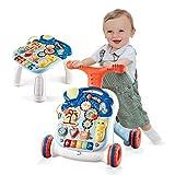 Arkmiido Baby Walker 2 en 1 Trotteur Bébé pour Apprendre à Marcher Centre d'Activités pour Enfants avec Lumières et Sons Jouet 9-36 mois
