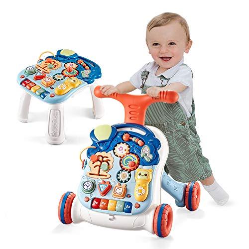 Arkmiido Actividad Andadores Primeros Pasos Bebé Centro de Actividades Extraíble para Niños con Luces y Sonidos Juguete 9-36 meses