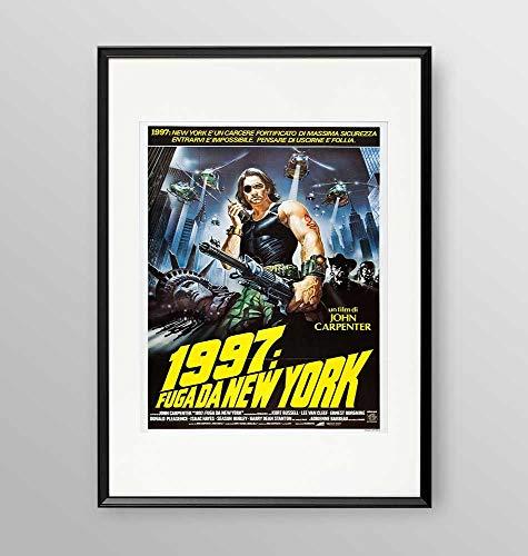 Poster incorniciato - film 1997 Fuga da New York- Artyexpress Made in Italy