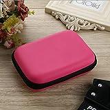 Nrew Disco Duro Externo USB de 2,5 Pulgadas, Disco Duro, Funda de Transporte, Bolsa, Bolsa para PC, Rosa roja