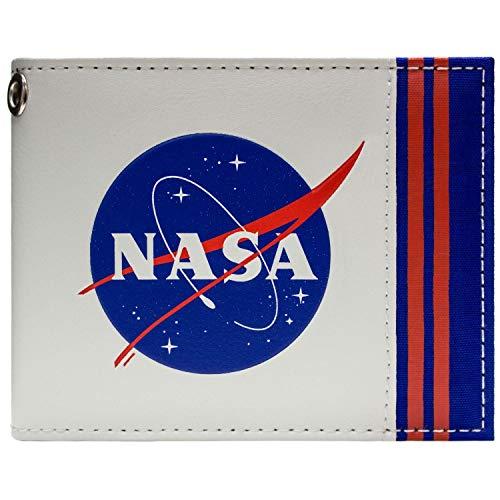 NASA Agency Logo Aéronautique Espace Blanc Portefeuille