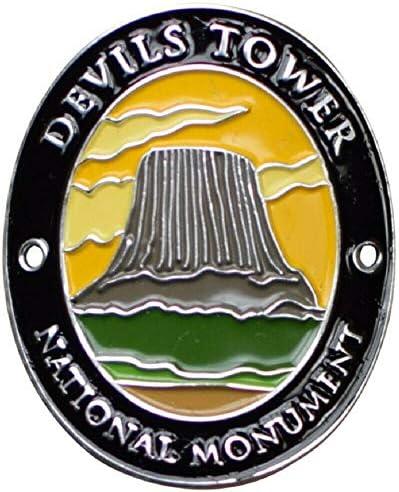 SKEMIX Devils Tower National Monument Walking Stick Medallion Wyoming Black Hills product image