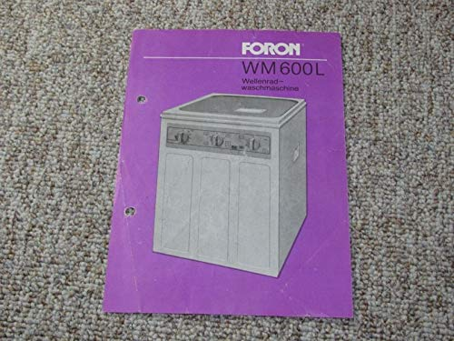 Werbeblatt Waschmaschine Foron WM 600 L