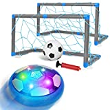 biulotter Kids Toys Hover Soccer Ball, Children Rechargeable Air Soccer with 2 Goals, Ball Toy with LED Light, Football Training Indoor & Outdoor Games Funny Gift for Boys Girls Adults Product Name