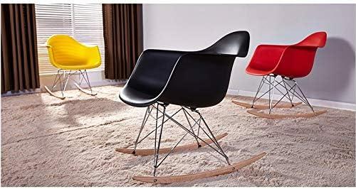 DWWSP Décoration d'intérieur Loisirs Salon Meubles Mode Plastique Mode Salon Chaise Balcon Rocking Chair.Multi Couleur Chaise de Salle à Manger en Option (Color : Jaune) Gris
