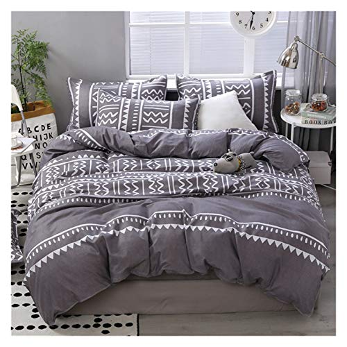 HNXCBH Double Duvet Cover 3/4pcs Twin Full Queen King Size Bedding Set Fruit Flower Family Bed Sheet Duvet Cover Pillowcase Single Double Bed Set Double Duvet Set (Color : 7, Size : Flat Bed Sheet)