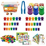 ZJL220 Niños Montessori Toy 1 Set en caja contador Oso Montessori educativo