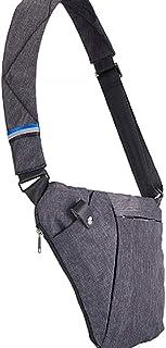 Sling Bag,Lightweight Casual Daypack,Chest Shoulder Bag,Handbag for Men Boy,Fashion Bag(Gray)