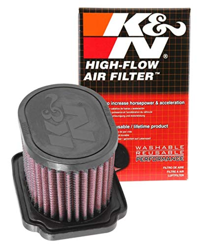 K&N YA-6814 Motorrad Luftfilter, Rot