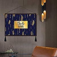 GCZZYMX Boho Chic Bohemian Tapestry、プリントコットンリネンの壁掛け、寝室の壁のピンチング室のリビングルームの家の装飾l 45X120Cm(17.7X47.2Inch),O,65 * 45Cm(25.6×17.7インチ)