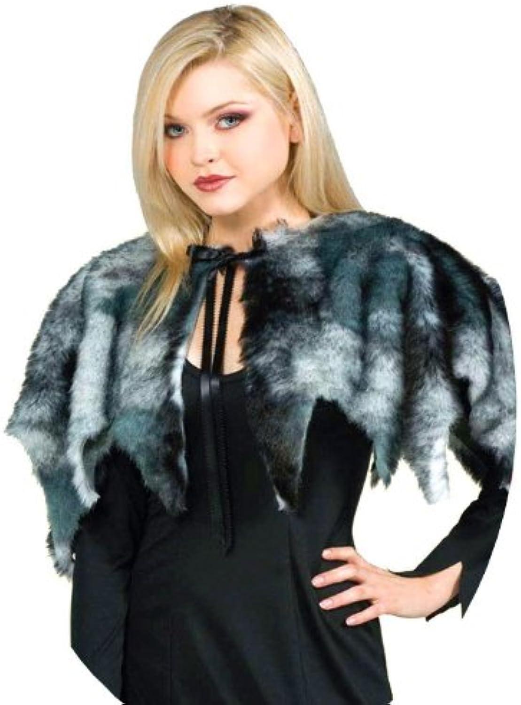 uomotellina sulle sptuttie di pelo grigio per completare ogni costume dal lupo al medioevale