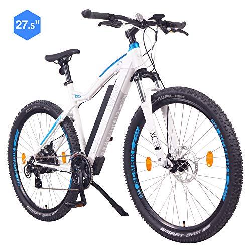 """NCM Moscow Bicicleta eléctrica de montaña, 250W, Batería 48V 13Ah 624Wh (Blanco 29"""")"""