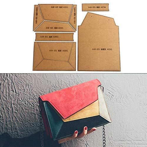 NO LOGO 1set DIY Leder handgemachte Fertigkeit Frauen Schultertasche Umhängetasche Organ Tasche Schnittmuster Hart Kraft Paper Stencil Schablone